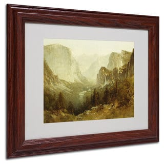 Thomas Hill 'Hunting In Yosemite 1890' White Matte, Wood Framed Wall Art