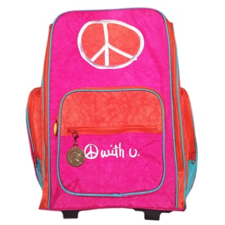 Biglove Peace Rolling Backpack