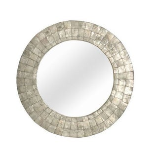 Wilsonville Medium Round Silver Mirror