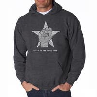 LA Pop Art Men's Steve Jobs Hooded Sweatshirt