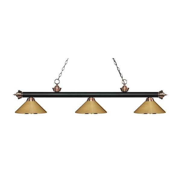 Avery home lighting rivera matte black antique copper 3 light avery home lighting rivera matte black amp antique copper 3 light islandbilliard aloadofball Image collections