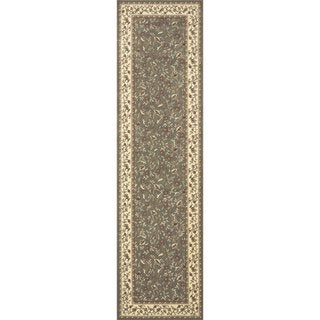 Admire Home Living Amalfi Floral Sage Area Rug Runner (2'2 x 7'7) - 2'2 x 7'7