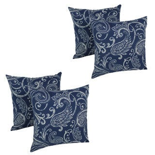 Blazing Needles Isolde 17-inch Spun Polyester Outdoor Throw Pillows (Set of 4)