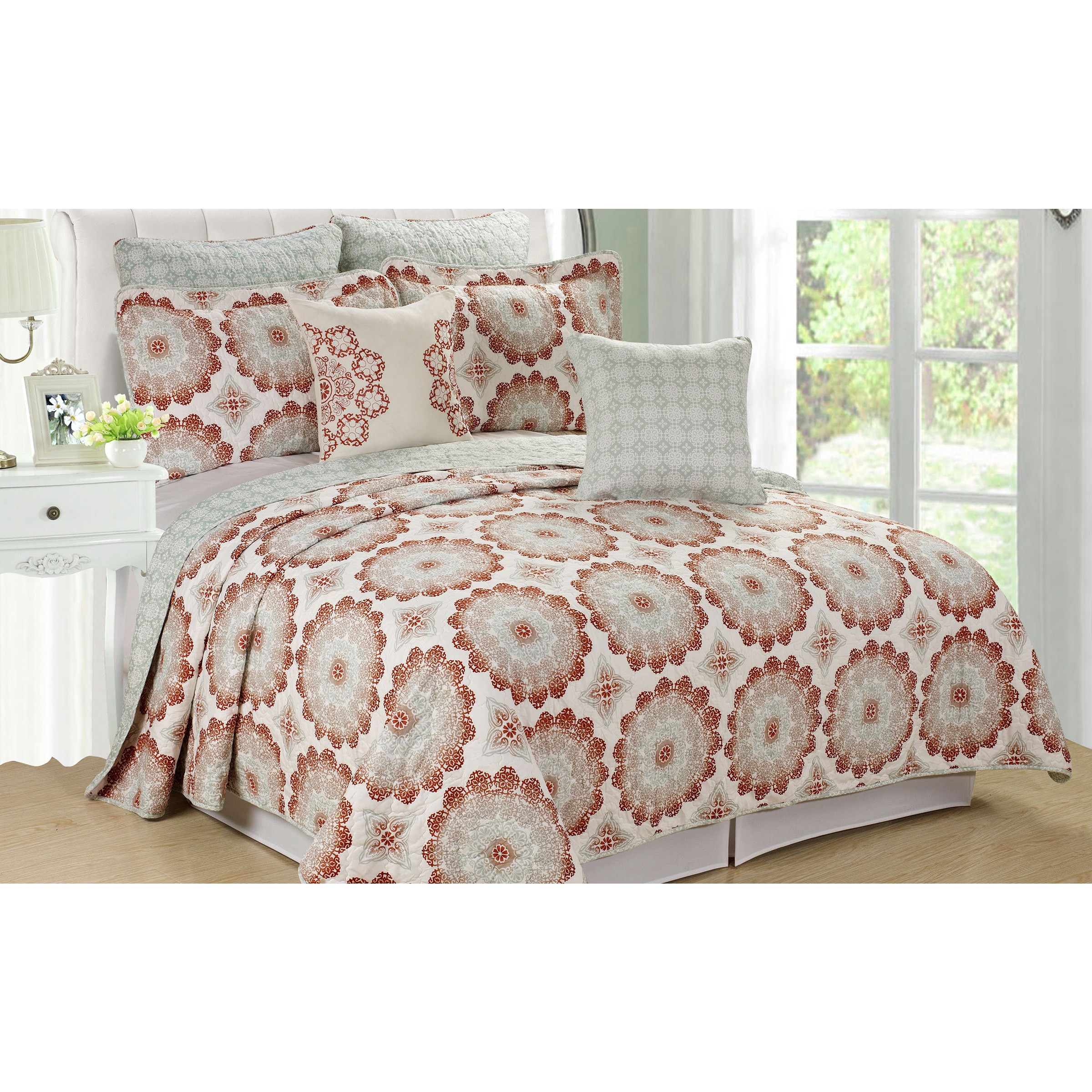 quilted oversized cote azur cream d grande quilt bedspread light bohemian p