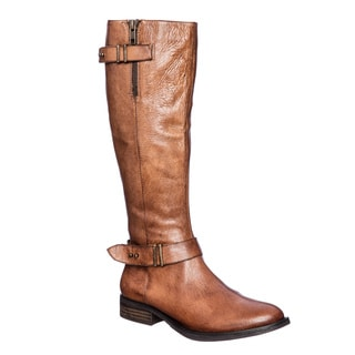 Steve Madden Women's ALYY Tall Shaft Boot with Belted Details