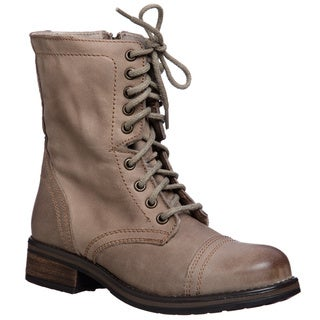 Tropa2 Steve Madden Women's Lace up Combat Boot - Free Shipping On ...