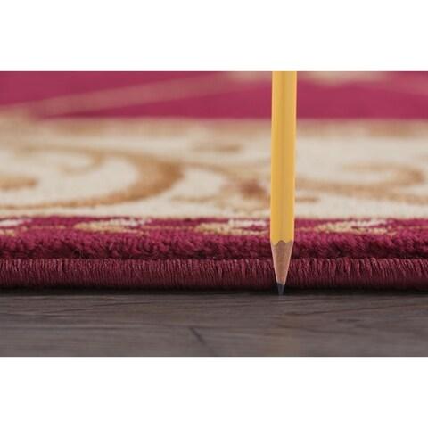 Alise Rugs Soho Traditional Border Scatter Mat Rug - 2' x 3'