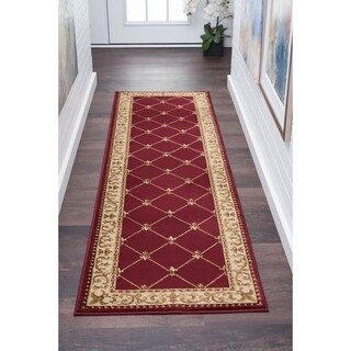 Soho Traditional Border Area Rug (2'3'' x 7'3'')