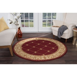 Soho Traditional Border Area Rug (7'10'' Round)