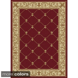 Alise Rugs Soho Traditional Border Area Rug - 7'10 x 10'3