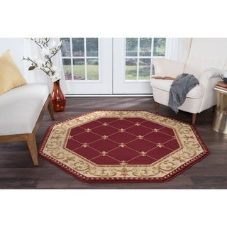 Alise Rugs Soho Traditional Border Octagon Area Rug - 7'10 x 7'10
