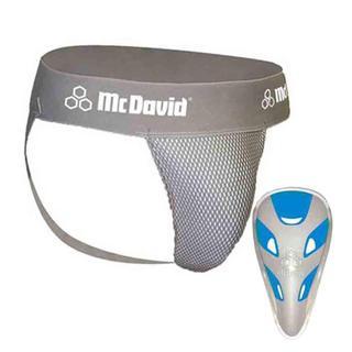 McDavid Classic Logo 3300 JCF Junior Athletic Supporter W/ Flexcup Mesh Gray