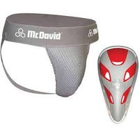 McDavid Classic Logo 3300 CF Athletic Supporter W/ Flexcup Mesh Gray