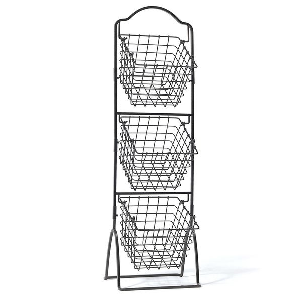 how to stack a 3 tier fruit wedding cake wire basket storage bins organizer rack fruit vegetable 16146