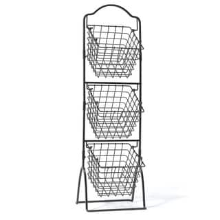 Gourmet Basic 3-tier Wire Market Basket|https://ak1.ostkcdn.com/images/products/10453942/P17546551.jpg?impolicy=medium