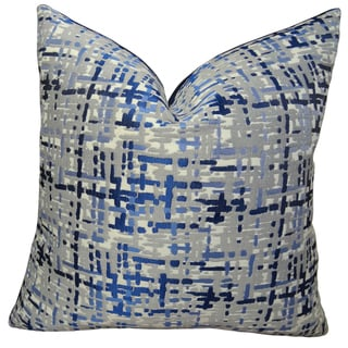 Plutus Abstract Plaid Handmade Double Sided Throw Pillow