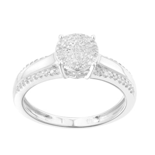 10k Gold White 1/4ct TDW Diamond Promise Ring