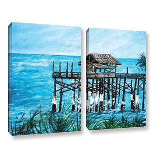 ArtWall Derek Mccrea 'Pier' 2 Piece Gallery-wrapped Canvas Set