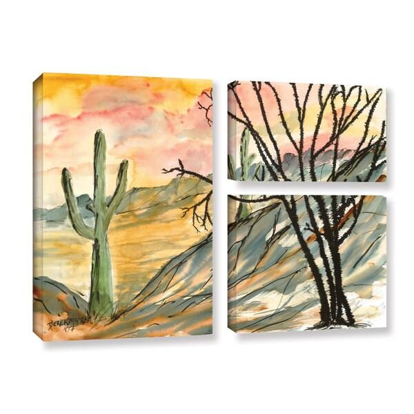ArtWall Derek Mccrea 'Arizona Evening' 3 Piece Gallery-wrapped Canvas Flag Set
