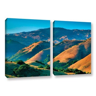ArtWall Steve Ainsworth 'Golden Hills' 2 Piece Gallery-wrapped Canvas Set