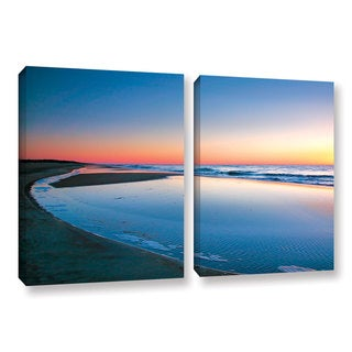 ArtWall Steve Ainsworth 'Sea And Surf' 2 Piece Gallery-wrapped Canvas Set