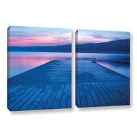 ArtWall Steve Ainsworth 'Waiting For Dawn' 2 Piece Gallery-wrapped Canvas Set - Multi