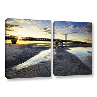ArtWall Steve Ainsworth 'Hatteras Pools And Bridge' 2 Piece Gallery-wrapped Canvas Set