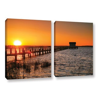 ArtWall Steve Ainsworth 'House At The End Of The Pier' 2 Piece Gallery-wrapped Canvas Set