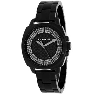 Coach Men's 14502077 'Boyfriend' Crystal Black Stainless Steel Watch