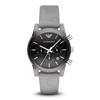 Emporio Armani Men's AR1063 'Classic' Chronograph Grey Silicone Watch