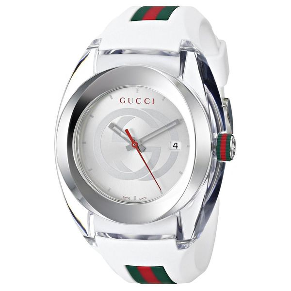 Gucci Men's YA137102 'SYNC XXL' White Stainless Steel Watch
