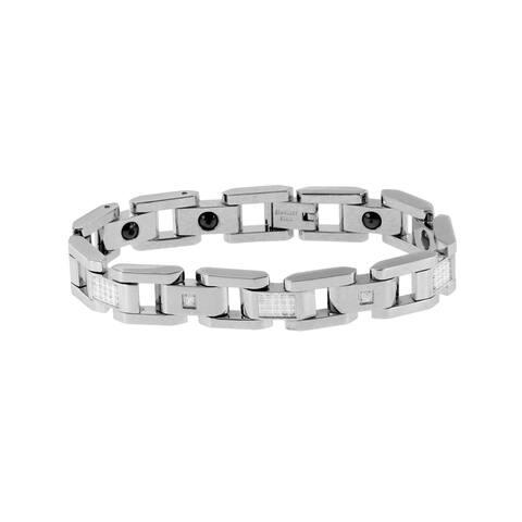 Stainless Steel Men's 3/4ct TDW Diamond Bracelet