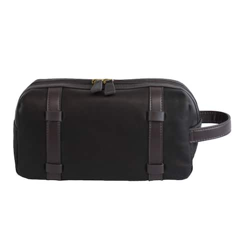 Bellino Oxford Brown Leather Toiletry Bag