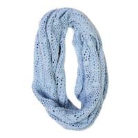 Handmade Lucia Cornflower Crochet Infinity Scarf (India)