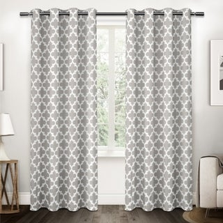 ATI Home Neptune Cotton Grommet Top Curtain Panel Pair (More options available)