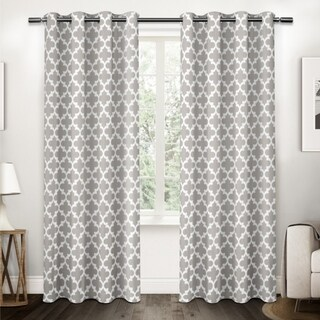 ATI Home Neptune Cotton Grommet Top Curtain Panel Pair