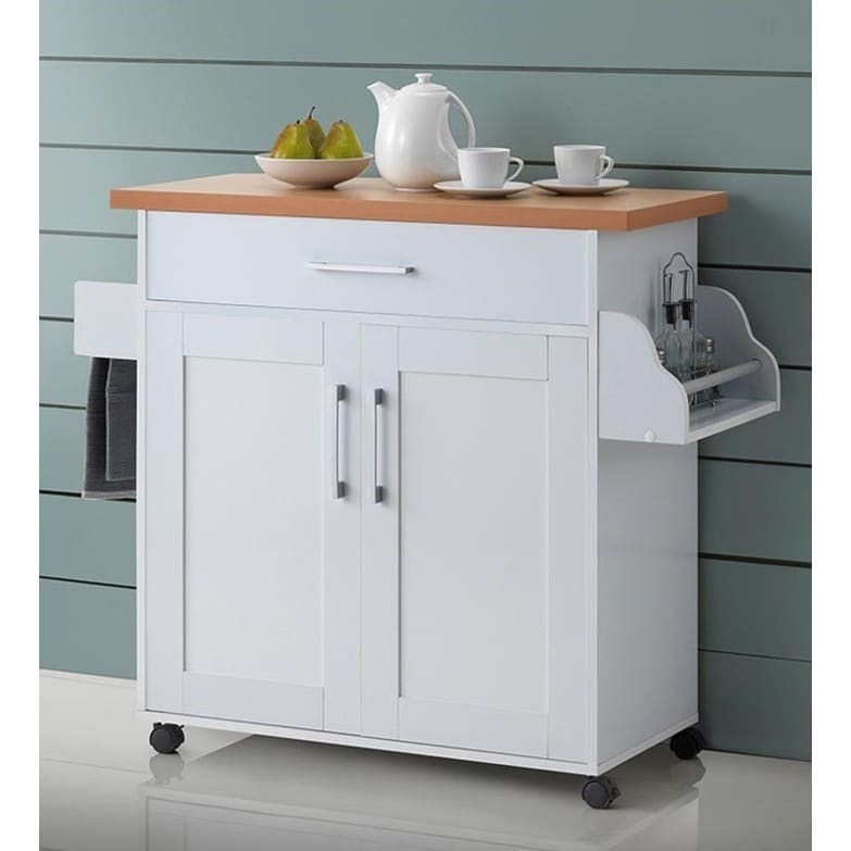 Hodedah Kitchen Island (White)