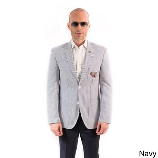 Elie Balleh Milano Italy Men's Cotton Seersucker Slim Fit Blazer (More options available)