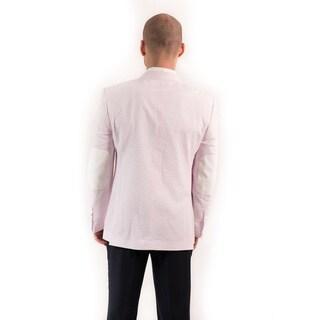 Elie Balleh Milano Italy Men's Cotton Seersucker Slim Fit Blazer