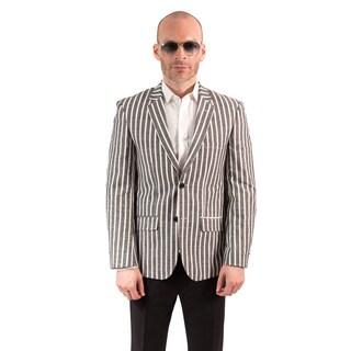 Elie Balleh Milano Italy Men's Slim Fit Cotton Blazer