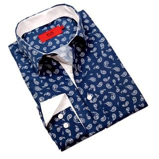 Elie Balleh Milano Italy Boys' Paisley Print Slim Fit Shirt