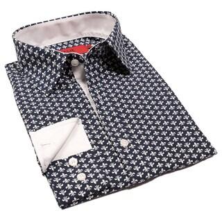 Elie Balleh Boys' Milano Italy Fleur-de-lis Slim Fit Shirt
