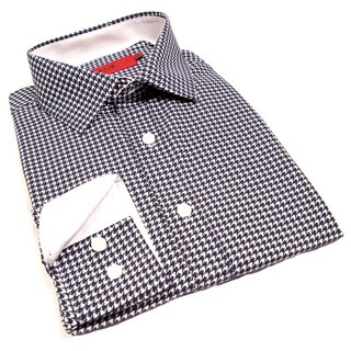 Elie Balleh Milano Italy Boys' Houndstooth Slim Fit Shirt