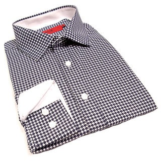 Elie Balleh Milano Italy Boys' Houndstooth Slim Fit Shirt (More options available)