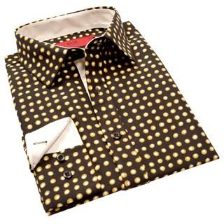 Elie Balleh Milano Italy Men's Circle Print Slim Fit Shirt