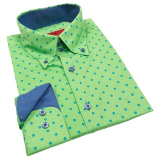 Elie Balleh Milano Italy Men's Polka Dot Slim Fit Shirt (More options available)