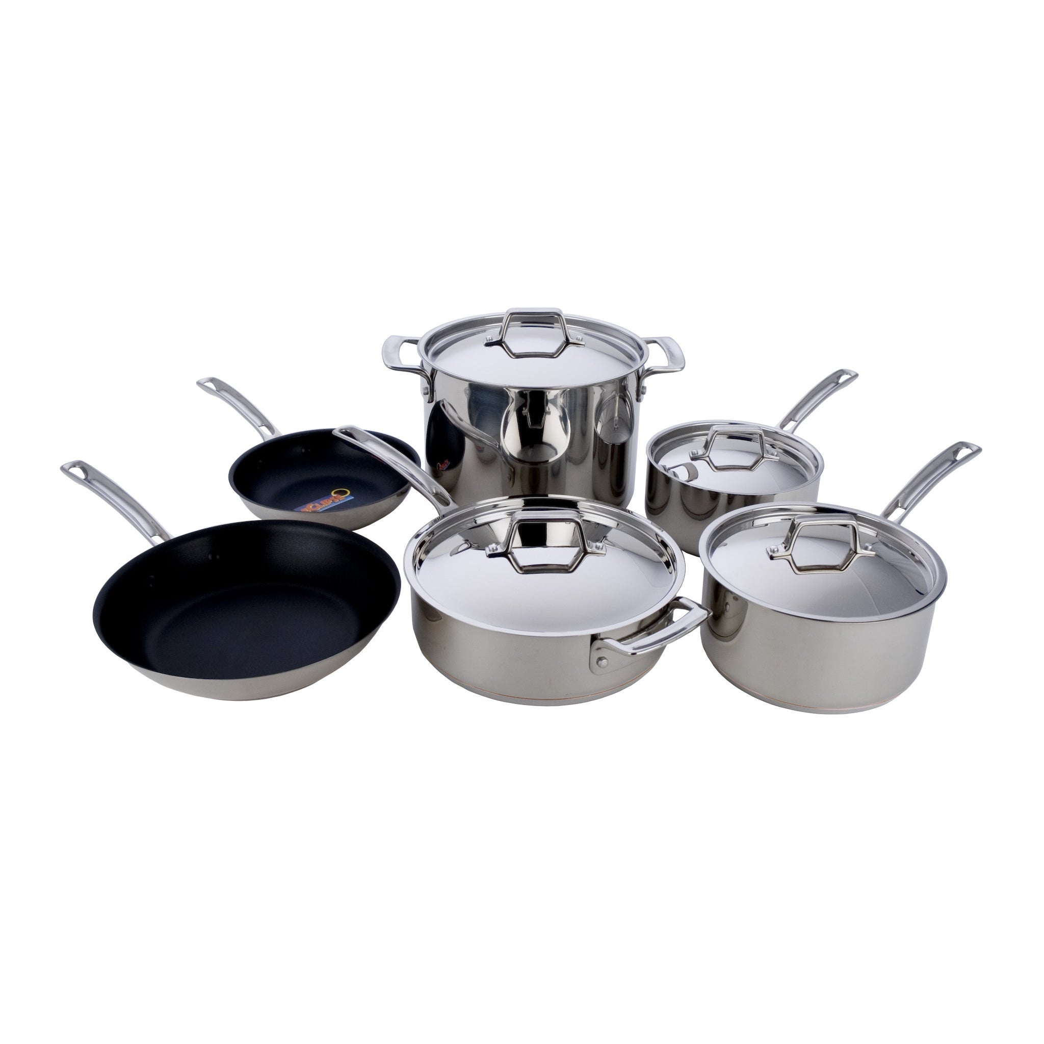 MIU France Stainless Steel (Silver) Cooper Core 10-piece ...