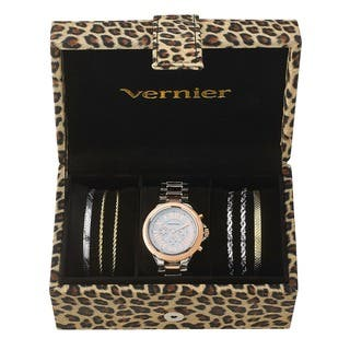 Vernier Women's Tri-tone Watch & Jewelry Bracelet Box Set|https://ak1.ostkcdn.com/images/products/10454277/P17546828.jpg?impolicy=medium