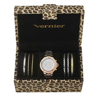 Vernier Women's Tri-tone Watch & Jewelry Bracelet Box Set|https://ak1.ostkcdn.com/images/products/10454277/P17546828.jpg?impolicy=medium