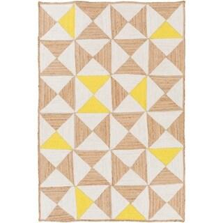 Hand-Woven St.Ives Geometric Reversible Jute Rug (8' x 10')